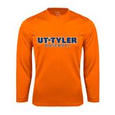 Syntrel Performance Orange Longsleeve Shirt-Baseball
