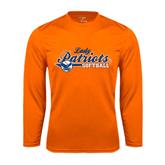 Syntrel Performance Orange Longsleeve Shirt-Softball Lady Design