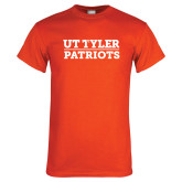 Orange T Shirt-UT Tyler Patriots Stacked