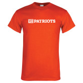 Orange T Shirt-UT Tyler Left Patriots