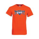 Orange T Shirt-Baseball Crossed Bats