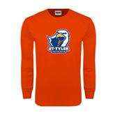 Orange Long Sleeve T Shirt-UT Tyler w/ Eagle Head