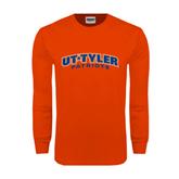 Orange Long Sleeve T Shirt-UT Tyler Arched