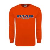Orange Long Sleeve T Shirt-Tennis