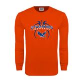 Orange Long Sleeve T Shirt-Basketball in Ball