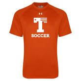 Under Armour Orange Tech Tee-Flag T - Soccer