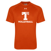 Under Armour Orange Tech Tee-Flag T - Volleyball