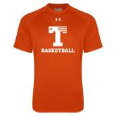 Under Armour Orange Tech Tee-Flag T - Basketball