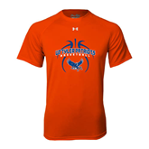 Under Armour Orange Tech Tee-Basketball in Ball