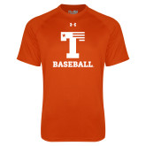Under Armour Orange Tech Tee-Flag T - Baseball