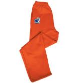 Champion PowerBlend Orange Fleece Open Bottom Pant-UT Tyler w/ Eagle Head