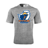 Performance Grey Heather Contender Tee-UT Tyler w/ Eagle Head