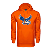 Under Armour Orange Performance Sweats Team Hood-Official Logo