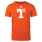 Adidas Orange Logo T Shirt-Flag T