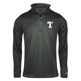 Russell Charcoal Heather 1/4 Zip-Flag T