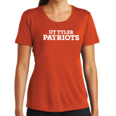 Ladies Syntrel Performance Orange Tee-Primary Athletics Mark