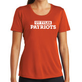 Ladies Syntrel Performance Orange Tee-UT Tyler in Box Patriots