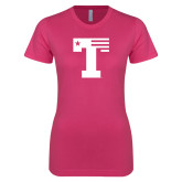 Ladies SoftStyle Junior Fitted Fuchsia Tee-Flag T