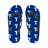 Ladies Full Color Flip Flops-Flag T