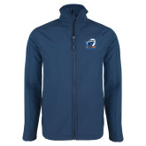 Navy Softshell Jacket-UT Tyler w/ Eagle Head