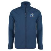 Navy Softshell Jacket-UT Tyler w/ Eagle Head