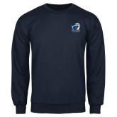 Navy Fleece Crew-UT Tyler w/ Eagle Head