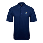 Navy Easycare Pique Polo-UT Tyler w/ Eagle Head
