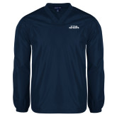 V Neck Navy Raglan Windshirt-Primary Athletics Mark