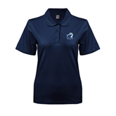 Ladies Easycare Navy Pique Polo-UT Tyler w/ Eagle Head