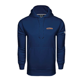 Under Armour Navy Performance Sweats Team Hood-UT Tyler Arched