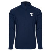 Sport Wick Stretch Navy 1/2 Zip Pullover-Flag T