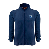 Fleece Full Zip Navy Jacket-UT Tyler w/ Eagle Head