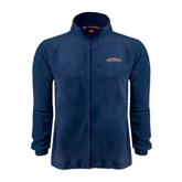 Fleece Full Zip Navy Jacket-UT Tyler Arched