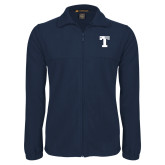 Fleece Full Zip Navy Jacket-Flag T