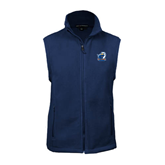 Fleece Full Zip Navy Vest-UT Tyler w/ Eagle Head
