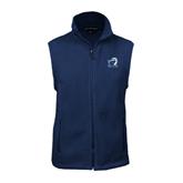 Fleece Full Zip Navy Vest-UT Tyler w/ Eagle Head
