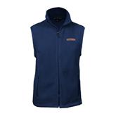 Fleece Full Zip Navy Vest-UT Tyler Arched