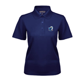 Ladies Navy Dry Mesh Polo-UT Tyler w/ Eagle Head