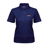 Ladies Navy Dry Mesh Polo-UT Tyler Arched