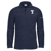 Columbia Full Zip Navy Fleece Jacket-Flag T