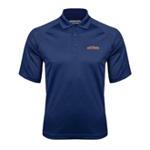 Navy Textured Saddle Shoulder Polo-UT Tyler Arched