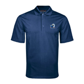 Navy Mini Stripe Polo-UT Tyler w/ Eagle Head