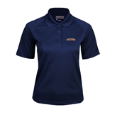 Ladies Navy Textured Saddle Shoulder Polo-UT Tyler Arched