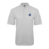 White Easycare Pique Polo-UT Tyler w/ Eagle Head