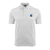 White Dry Mesh Polo-UT Tyler w/ Eagle Head