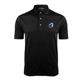 Black Dry Mesh Polo-UT Tyler w/ Eagle Head