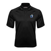 Black Textured Saddle Shoulder Polo-UT Tyler w/ Eagle Head