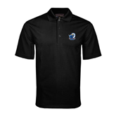 Black Mini Stripe Polo-UT Tyler w/ Eagle Head