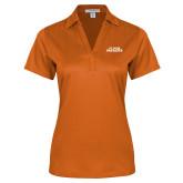Ladies Orange Performance Fine Jacquard Polo-Primary Athletics Mark