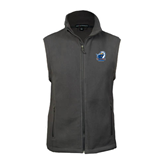 Fleece Full Zip Charcoal Vest-UT Tyler w/ Eagle Head